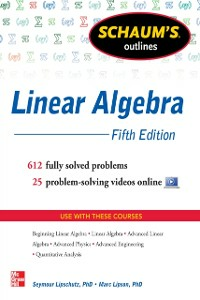 Ebook in inglese Schaum's Outline of Linear Algebra, 5th Edition Lipschutz, Seymour , Lipson, Marc