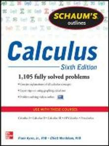 Schaum's Outline of Calculus: 1.105 Solved Problems. Con DVD - Frank Ayres,Elliott Mendelson - copertina