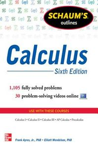 Foto Cover di Schaum's Outline of Calculus, 6th Edition, Ebook inglese di Frank Ayres,Elliott Mendelson, edito da McGraw-Hill Education