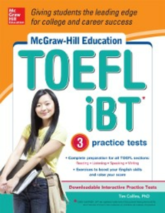 Ebook in inglese McGraw-Hill Education TOEFL iBT with 3 Practice Tests and DVD-ROM Collins, Tim