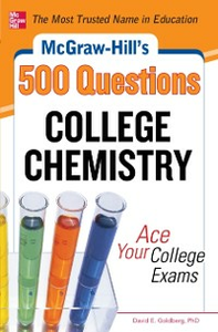 Ebook in inglese McGraw-Hill's 500 College Chemistry Questions Goldberg, David