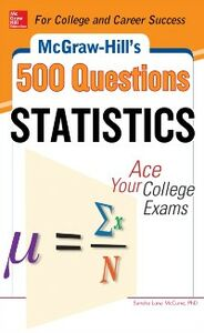 Ebook in inglese McGraw-Hill's 500 Statistics Questions McCune, Sandra