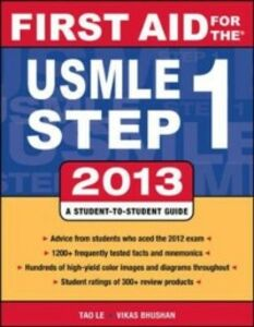 Ebook in inglese First Aid for the USMLE Step 1 2013 Bhushan, Vikas , Le, Tao