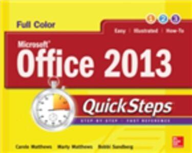 Foto Cover di Microsoft Office 2013 QuickSteps, Ebook inglese di AA.VV edito da McGraw-Hill Education
