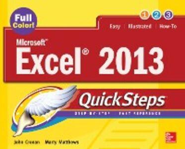 Ebook in inglese Microsoft Excel 2013 QuickSteps Cronan, John , Matthews, Marty