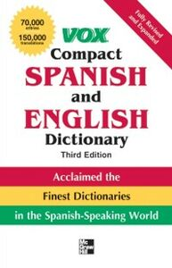 Ebook in inglese Vox Compact Spanish and English Dictionary, Third Edition (Paperback) Vo, ox