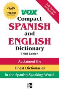 Foto Cover di Vox Compact Spanish and English Dictionary, Third Edition (Paperback), Ebook inglese di Vox, edito da McGraw-Hill Education