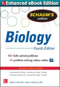 Ebook in inglese Schaum's Outline of Biology Fried, George , Hademenos, George J.
