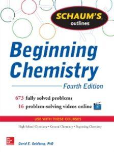 Ebook in inglese Schaum's Outline of Beginning Chemistry Goldberg, David