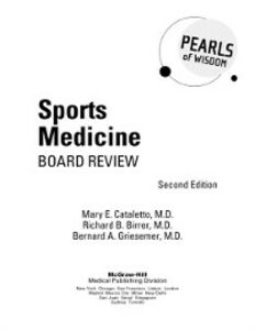 Ebook in inglese Sports Medicine Board Review Birrer, Richard , Cataletto, Mary , Griesemer, Bernard