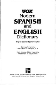 Ebook in inglese Vox Modern Spanish and English Dictionary Vo, ox