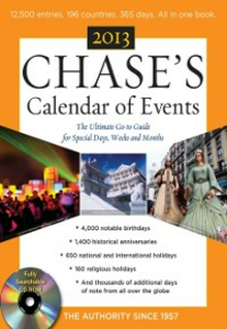 Ebook in inglese Chase's Calendar of Events 2013 Events, Editors of Chase's Calendar of