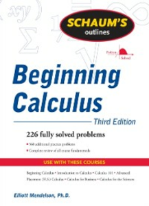 Ebook in inglese Schaum's Outline of Beginning Calculus, Third Edition Mendelson, Elliott