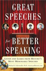 Ebook in inglese Great Speeches For Better Speaking Eidenmuller, Michael