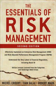 Essentials of risk management - Michel Crouhy,Dan Galai,Robert Mark - copertina