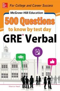 Ebook in inglese McGraw-Hill Education 500 GRE Verbal Questions to Know by Test Day Reed, Shannon