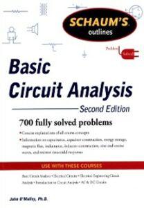 Foto Cover di Schaum's Outline of Basic Circuit Analysis, Second Edition, Ebook inglese di John O'Malley, edito da McGraw-Hill Education