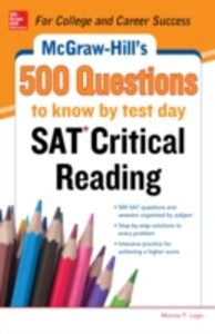 Ebook in inglese McGraw-Hill s 500 SAT Critical Reading Questions to Know by Test Day Johnson, Cynthia