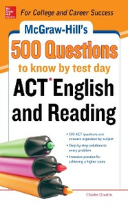 Ebook in inglese McGraw-Hill's 500 ACT English and Reading Questions to Know by Test Day Johnson, Cynthia