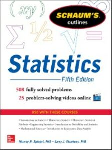 Ebook in inglese Schaum's Outline of Statistics, 5th Edition Spiegel, Murray