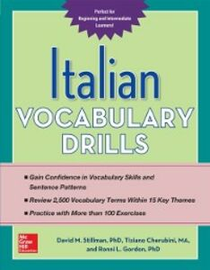 Ebook in inglese Italian Vocabulary Drills Cherubini, Tiziano , Gordon, Ronni , Stillman, David