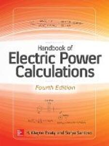 Handbook of electric power calculations - H. Wayne Beaty,Surya Santoso - copertina
