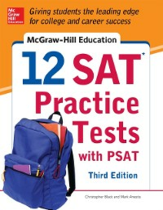 Ebook in inglese McGraw-Hill Education 12 SAT Practice Tests with PSAT, 3rd Edition Anestis, Mark , Black, Christopher