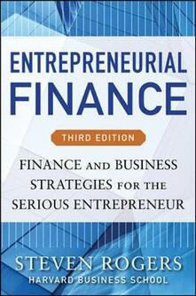 Entrepreneurial finance. Finance and business strategies - Rogers - copertina