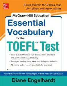 Ebook in inglese McGraw-Hill Education Essential Vocabulary for the TOEFL Test Engelhardt, Diane