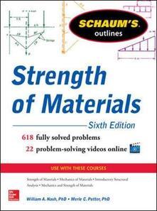 Schaum's outline of strength of materials - Nash - copertina