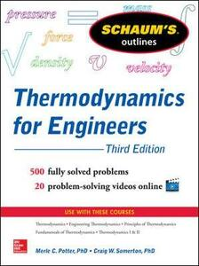 Schaums Outline of Thermodynamics for Engineers - Merle Potter,Craig W. Somerton - cover