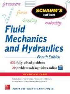 Schaum's Outline of Fluid Mechanics and Hydraulics - Cheng Liu,Ranald V. Giles,Jack B. Evett - cover