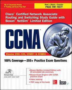 CCNA Cisco Certified Network Associate Routing and Switching Study Guide (Exams 200-120, ICND1, & ICND2), with Boson NetSim Limited Edition - Richard Deal - cover