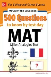 Ebook in inglese McGraw-Hill Education 500 MAT Questions to Know by Test Day Zahler, Kathy A.
