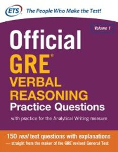 Ebook in inglese Official GRE Verbal Reasoning Practice Questions Educational Testing Servic, ducational Testing Service