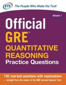 Ebook in inglese Official GRE Quantitative Reasoning Practice Questions Educational Testing Servic, ducational Testing Service