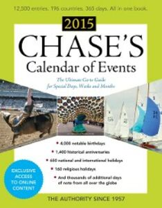 Ebook in inglese Chase's Calendar of Events 2015 Events, Editors of Chase's Calendar of