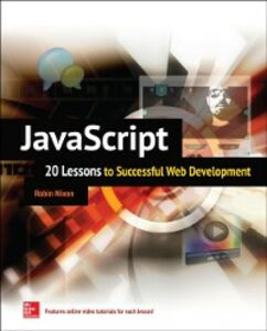 Ebook in inglese JavaScript: 20 Lessons to Successful Web Development Nixon, Robin