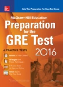 Ebook in inglese McGraw-Hill Education Preparation for the GRE Test 2016 Geula, Erfun