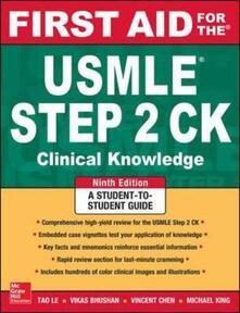 First aid for the USMLE steps ck - copertina