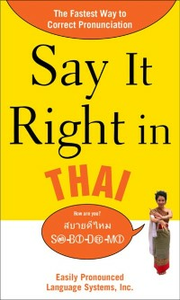 Ebook in inglese Say It Right in Thai EPL, PLS