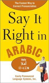 Say It Right in Arabic