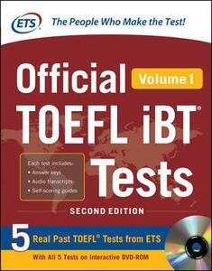 Official TOEFL IBT testes. Con DVD-ROM. Vol. 1 - copertina