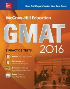 Ebook in inglese McGraw-Hill Education GMAT 2016 McCune, Sandra Luna , Reed, Shannon