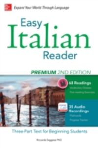 Ebook in inglese Easy Italian Reader, Premium 2nd Edition Saggese, Riccarda