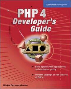 PHP 4 Developer's Guide - Blake Schwendiman,David Medinets - cover