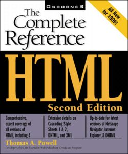 Foto Cover di HTML, Ebook inglese di Thomas A. Powell, edito da McGraw-Hill
