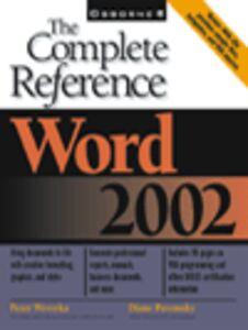 Foto Cover di Word 2002, Ebook inglese di Diane Poremsky,Peter Weverka, edito da McGraw-Hill