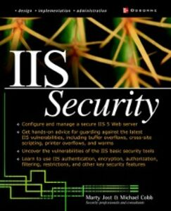 Ebook in inglese IIS Security Jost, Marty
