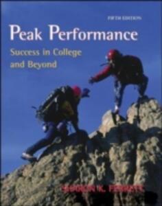 Peak Performance: Success in College and Beyond - Sharon K. Ferrett - cover